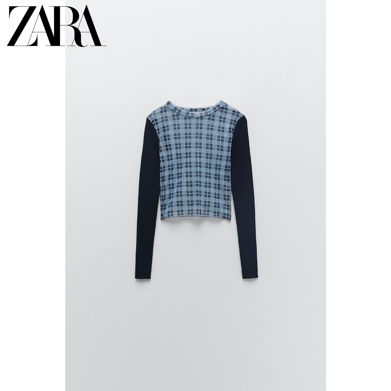 ZARA 02488130400  女士格子针织衫