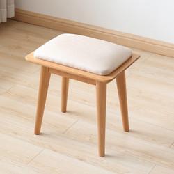 原始原素 D4131 实木软包梳妆凳