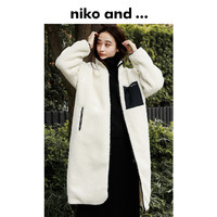 niko and …摇粒绒大衣2020冬季新款男女同款长款立领外套 844406