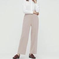 必买年货:UNIQLO 优衣库 433785 女装 弹力双面针织直筒裤