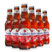 Hoegaarden  福佳 比利时风味玫瑰红精酿果味啤酒 248ml*6瓶