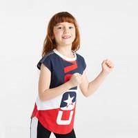 CONVERSE 匡威 女童拼色运动短袖T恤