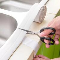 厨房防水防霉胶带水槽贴窗户缝隙贴填补墙角胶带密封条 纯白2.2*100cm 大