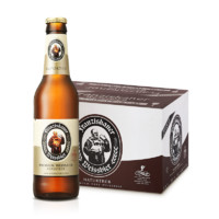 Franziskaner 范佳乐 进口教士啤酒 355ml*24瓶*2箱 + 赠:啤酒500ml*12听