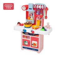 贝恩施 儿童过家家厨房玩具 男孩 女孩玩具 角色扮演亲子互动趣味烹饪欢乐厨房M2357粉新年礼物+凑单品