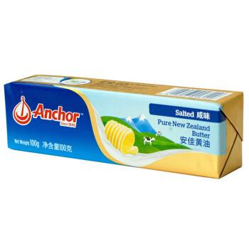 限四川、京东PLUS会员: Anchor 安佳 动脂黄油 咸味 100g*2盒 *2件