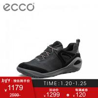 ECCO爱步户外徒步鞋 跑步鞋运动鞋男 健步801904 黑色80190451052 40