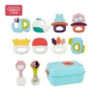 贝恩施 婴儿玩具宝宝玩具牙胶手摇铃 10件套YZ42新年礼物 +凑单品