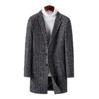 Hodo 红豆 DXISD005SS2 男士中长款格纹大衣