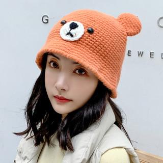 网红款毛线帽子女保暖秋冬季韩版时尚百搭可爱耳朵针织帽