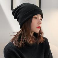 新款韩版针织帽女冬天毛线帽英伦时尚百搭可爱保暖冬季潮套头帽子