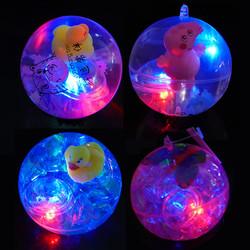 智慧鱼 发光弹力水晶球带绳大号