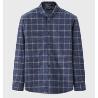 HLA 海澜之家 HNEAD4R228A 男士格纹长袖衬衫