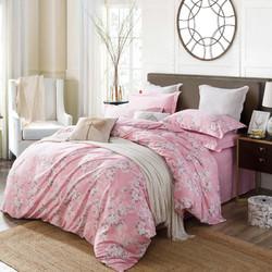 韩香家纺60支天丝棉床上四件套磨毛床单被套单人床上三件套 微雨 1.2/1.35床床单款三件套