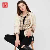 优衣库 女装 法兰绒格子衬衫(长袖) 432611 UNIQLO