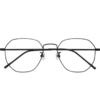 潮库 1899 经典黑钛眼镜框+1.56折射率 防蓝光镜片