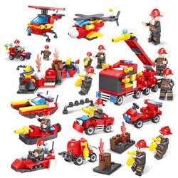 HUIQIBAO TOYS 汇奇宝 消防系列 整套八盒 376颗粒