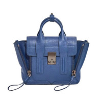 3.1 Phillip Lim  奢侈品 PASHLI MINI SATCHEL系列 女士钴蓝色牛皮包 AC00-0226SKC-COBALT