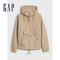 Gap  573571 纯棉透气套头连帽复古卡其外套 *3件