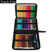 TouchFish 72色水溶性彩铅美术铅笔手绘涂色填色绘画套装儿童画画学生练习专业彩色铅笔 水溶性72色套装 *4件