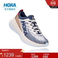 HOKA ONE ONE男女款Carbon X-SPE 卡奔X特别版碳板竞速回弹公路跑步鞋 豆腐白/白色 8/260mm