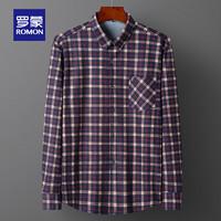 ROMON  罗蒙 S6C0617102  男士加绒衬衫