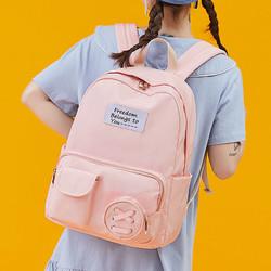 真维斯双肩包时尚书包女高中大学生韩版旅行背包大容量ins电脑包