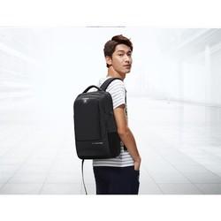 爱华仕男士商务双肩包男中学生书包女大容量旅行背包电脑包4308