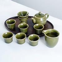 熹谷 老梅青龙泉青瓷 茶具套装 10件套 *2件