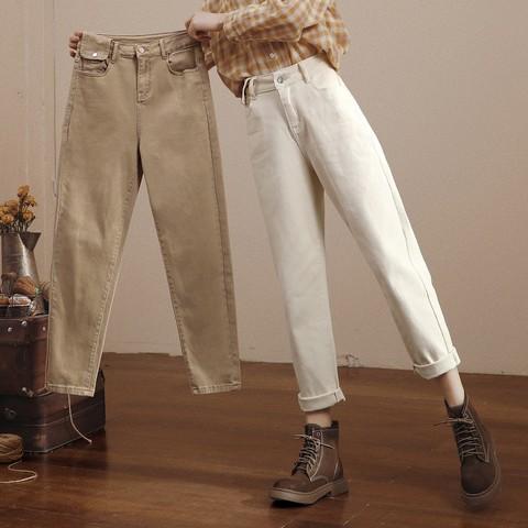 HIPPIE MISS 嬉皮少女 B95320G1B2 女士高腰老爹牛仔裤