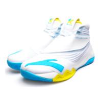 ANTA 安踏 KT6 男子篮球鞋 112041101-8 主场配色/白色/氯蓝 45