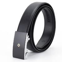 Samsonite 新秀丽 AAMIR系列 男士牛皮自动扣腰带 TK2*09002 黑色 120