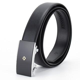 Samsonite 新秀丽 男士皮带自动扣腰带商务休闲裤腰带TK2*09002 黑色 120CM