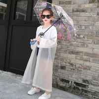 伴侣行 儿童雨衣非一次性小学生雨披户外男女童全身加厚雨衣 BL9254 白