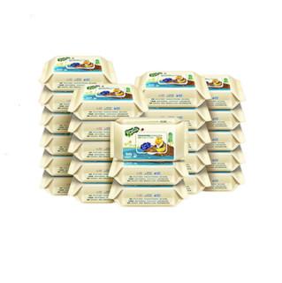 子初婴儿湿巾宝宝手口专用湿巾婴幼新生儿家用大包装带盖80抽24包