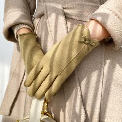 暖印 311 女士羊毛五指手套