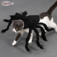 doglemi多乐米宠物蜘蛛衣服 猫狗通用毛绒蜘蛛变身装派对装扮