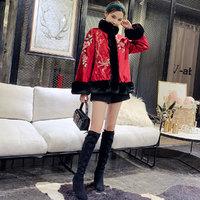 冬装女冬季旗袍外套唐装棉袄中国风女装棉衣