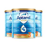 23日10点、考拉海购黑卡会员:Aptamil 爱他美 金装 婴儿配方奶粉 3段 900克*3罐