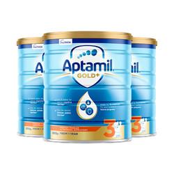 Aptamil 爱他美 金装 婴儿配方奶粉 3段 900克*3罐