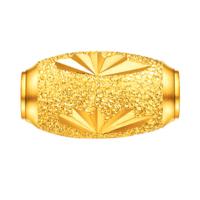 六福珠宝  B01TBGP0002 榄型珠足金吊坠 1.01g