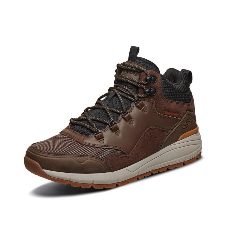SKECHERS 斯凯奇 USA系列 男士高帮工装靴 66259 棕色 41