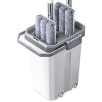 免手洗平板拖把 清洗桶+拖把+ 1块布+刮刀