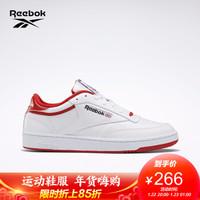 Reebok锐步运动经典CLUB C 85男女休闲鞋 FX3371_白色/红色/黑色 41