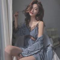 PEANOJEAN 6791 性感吊带睡裙两件套