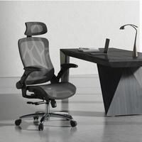 京东PLUS会员:Hbada 黑白调 HDNY167BM 人体工学电脑椅