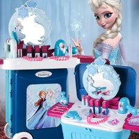 Disney 迪士尼 冰雪奇缘女孩过家家梳妆台