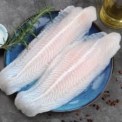 纯色本味 冷冻巴沙鱼柳 1kg *8件