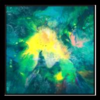 买买艺术  王唐糖《梦中奇幻森林》限量签名版画 油画 客厅装饰画 卧室装饰画 . 画框尺寸95*95cm *2件