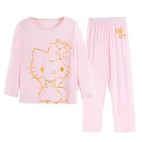 聚划算百亿补贴:HELLO KITTY 凯蒂猫 女童秋衣秋裤套装